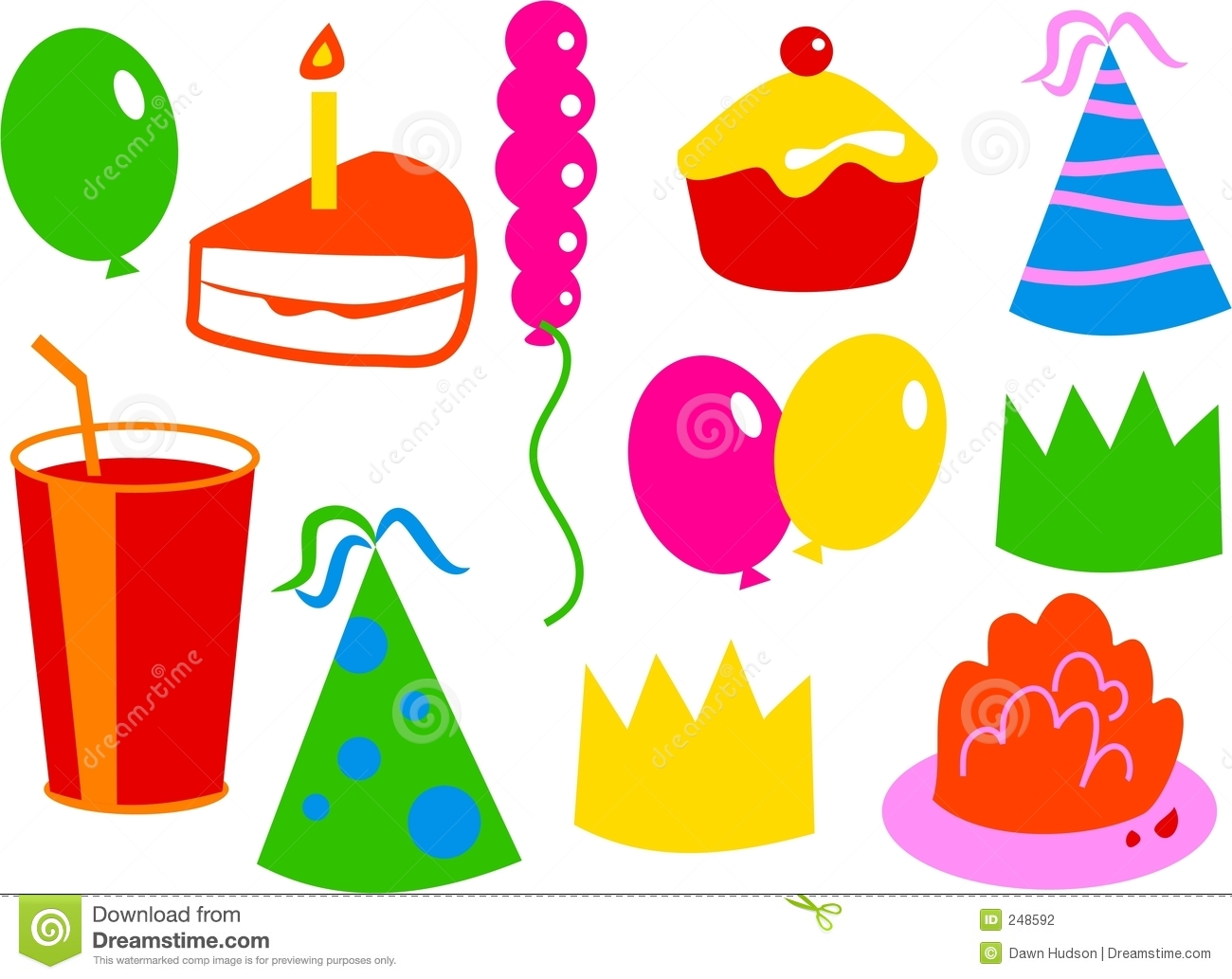 Birthday Icons Stock P...