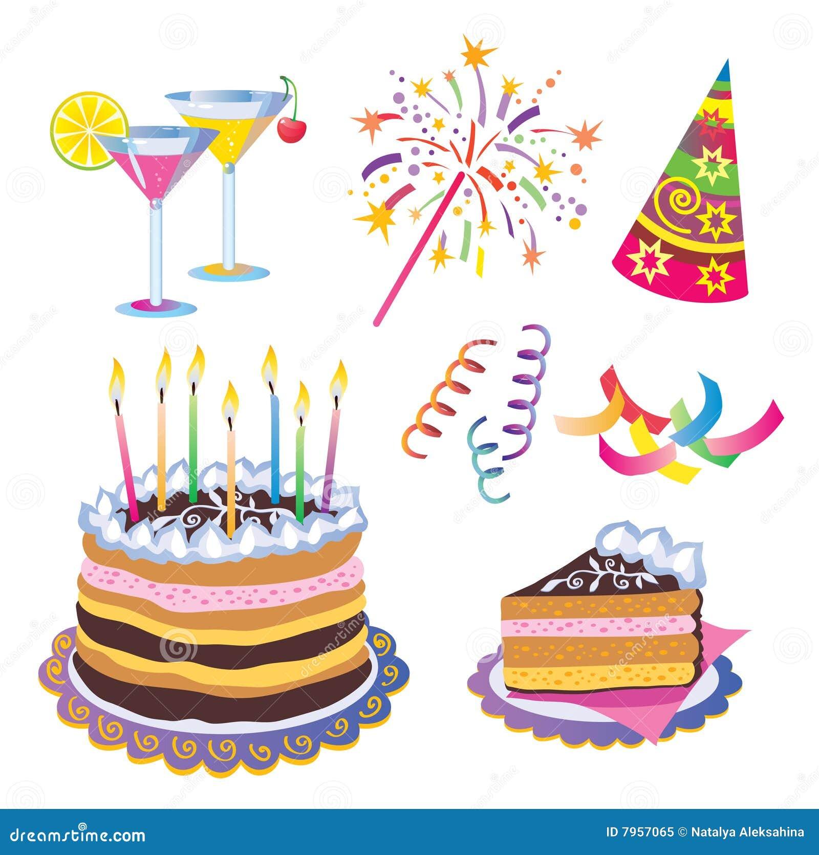 Birthday Icons Royalty Free Stock Photo - Image: 7957065