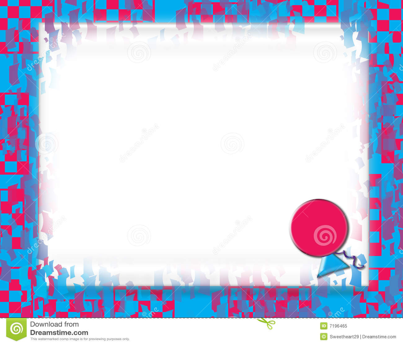 Birthday Invitation 4 Stock Illustration. Illustration Of