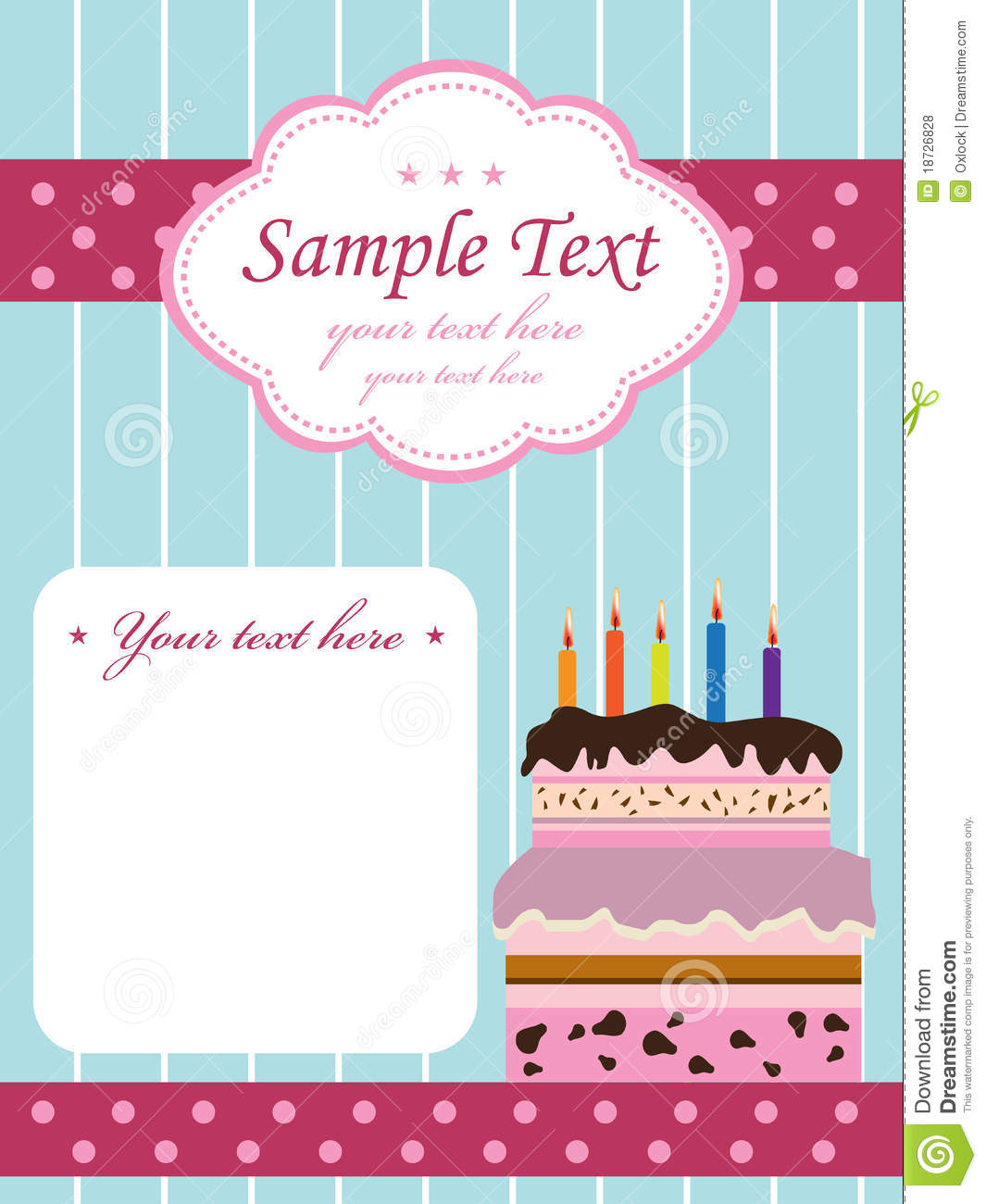 Birthday invitation with cake stock vector illustration of birthday invitation with cake stopboris Gallery
