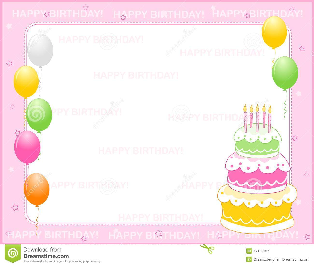 Birthday invitation card stock vector illustration of girl 17150037 birthday invitation card filmwisefo Gallery
