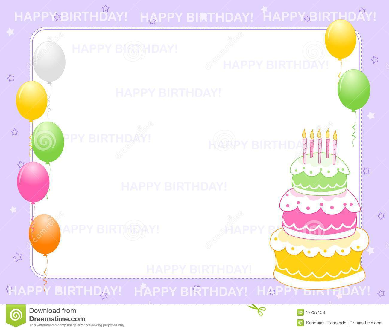 Birthday invitation card stock vector  Illustration of