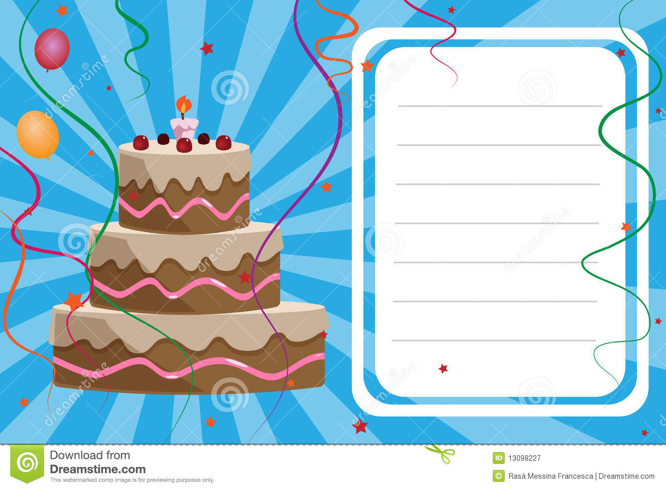 Birthday Invitation Card Boy Royalty Free Stock