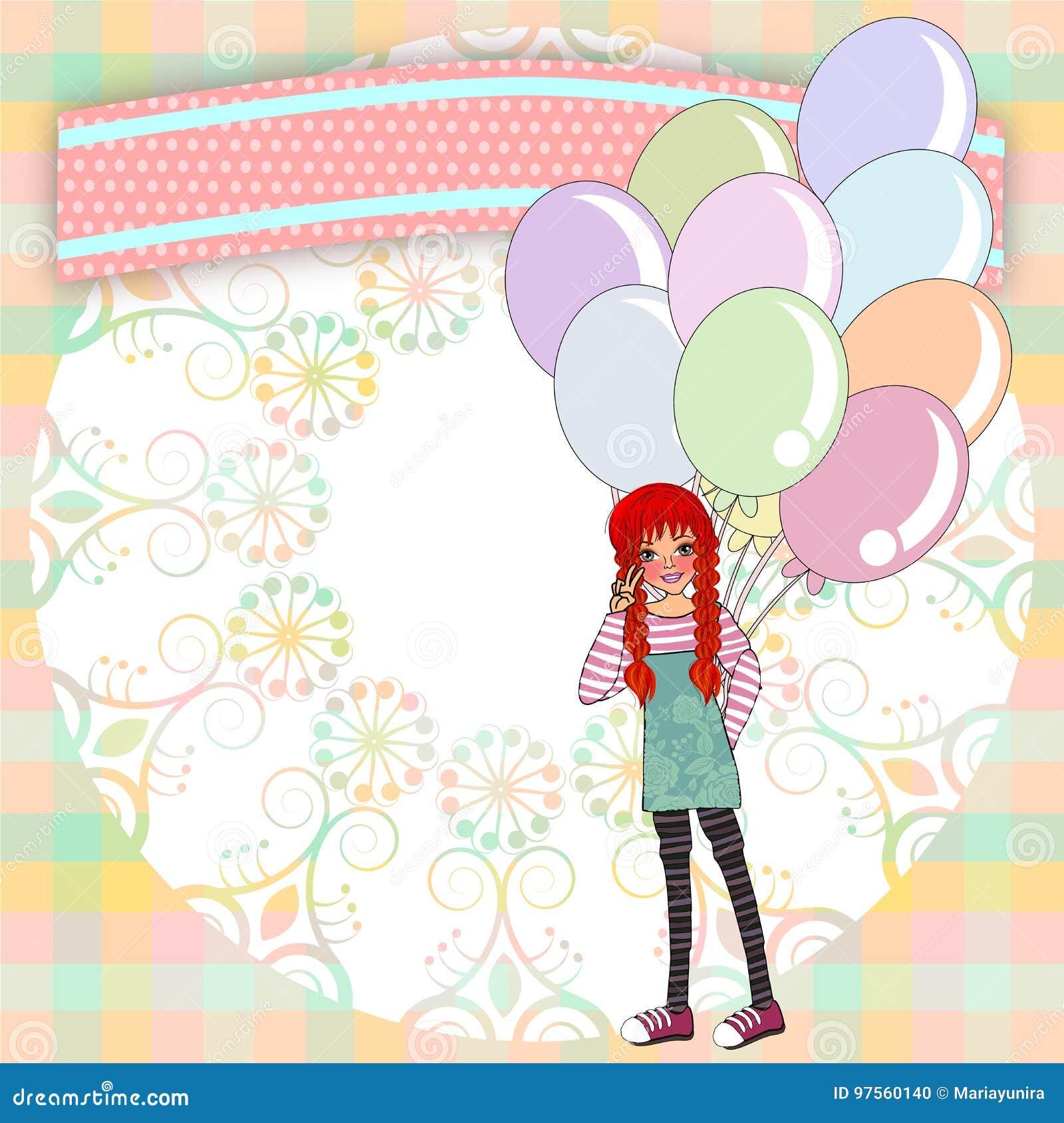 Birthday Invitations Template Stock Illustration