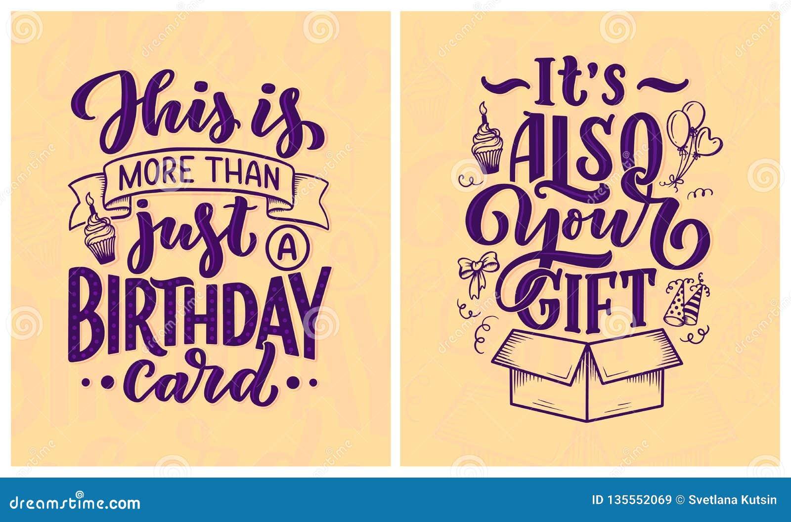 Birthday Lettering In Retro Style. Anniversary Invitation ...