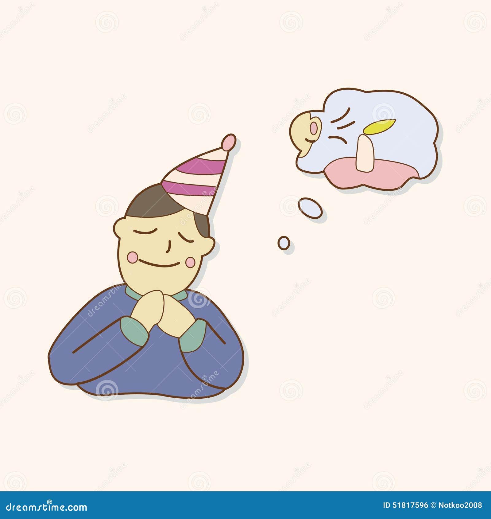 Birthday Make A Wish Theme Elements Vector,eps Stock ...