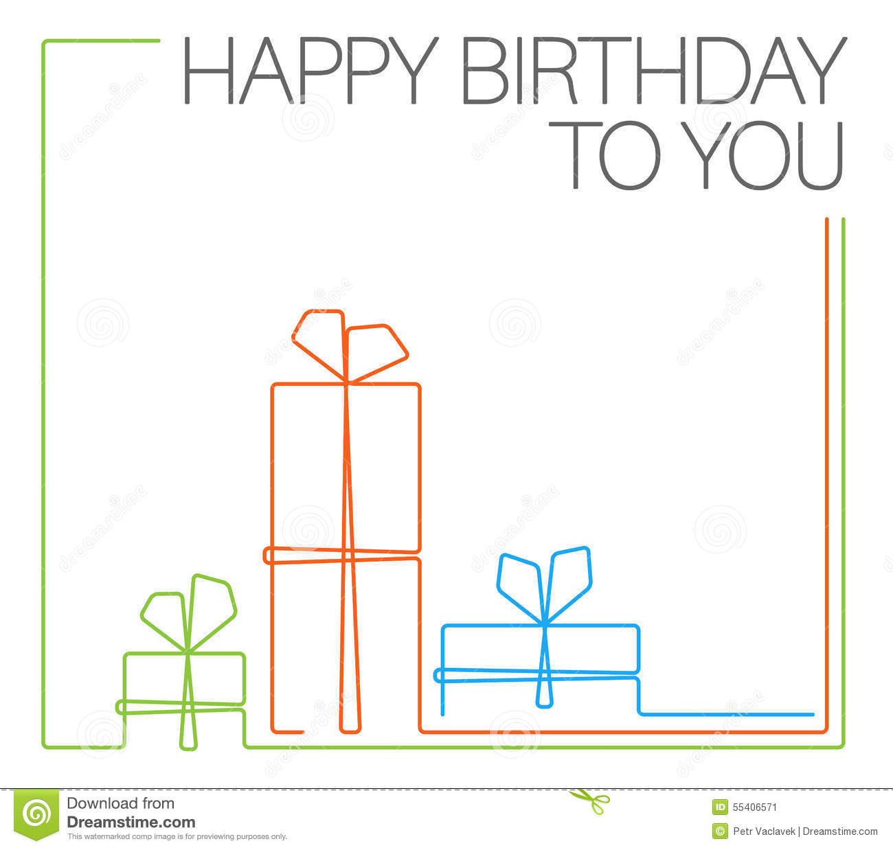 6 Birthday Card Templates: Birthday Minimalistic Card Template Stock Vector