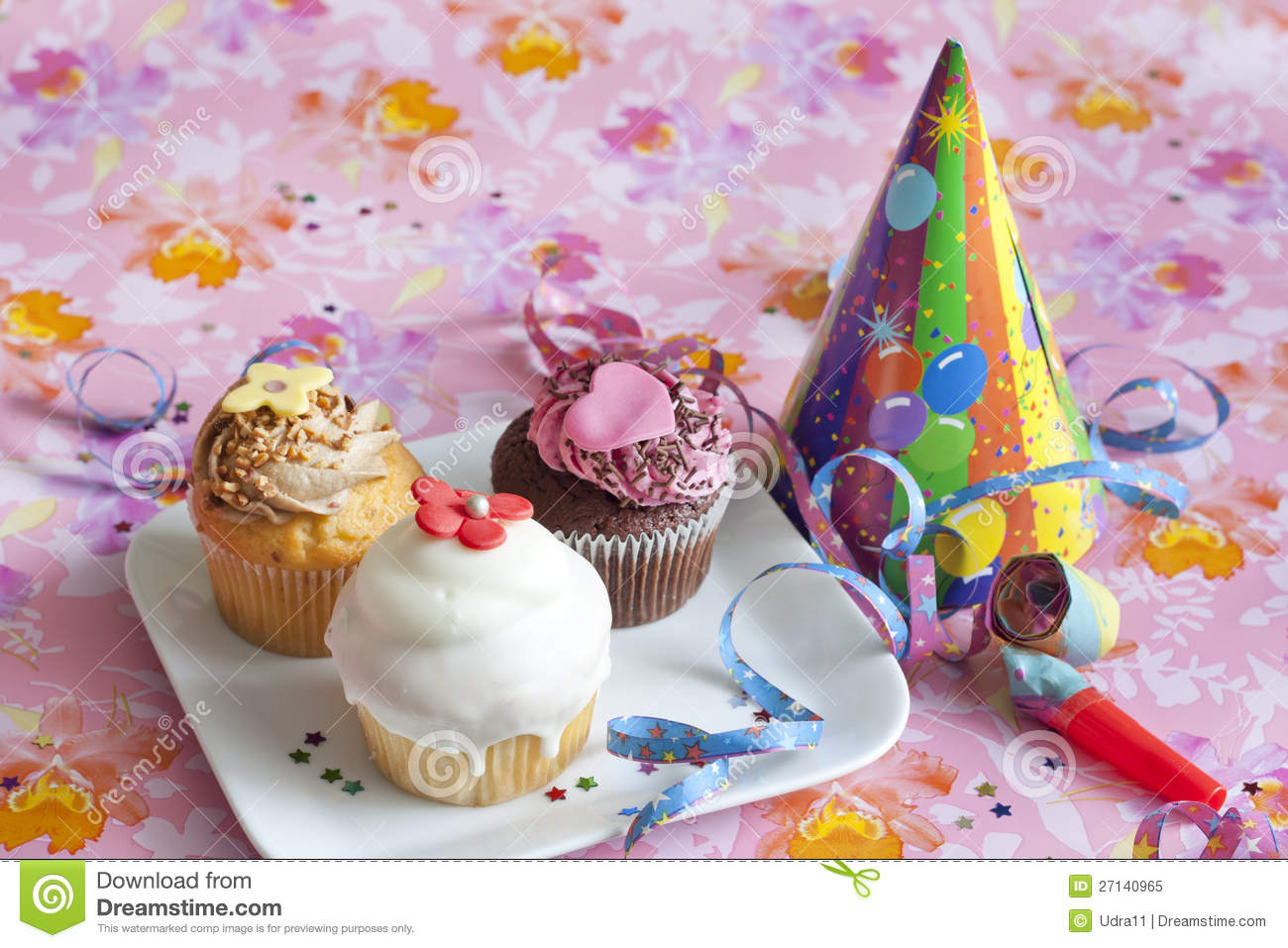 Birthday Muffins Party Stock Image Image Of Bakery Nutrition
