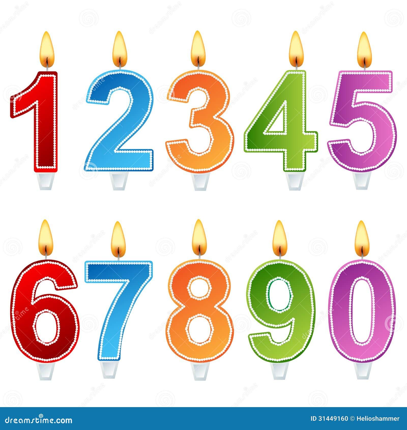 Birthday Number Candle Set Stock Photo Image 31449160