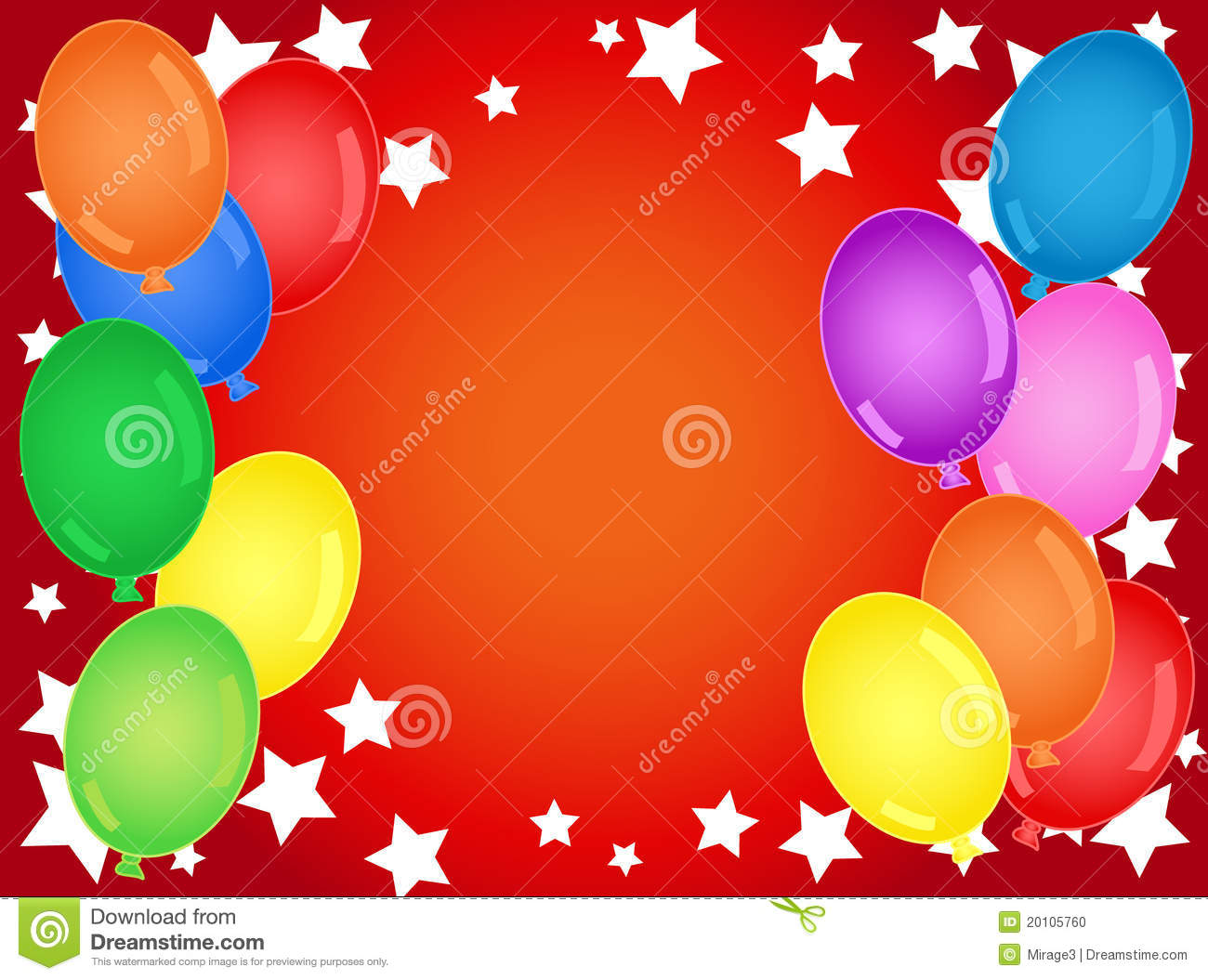 Fun and bold birthday or other celebration background with stars and ...