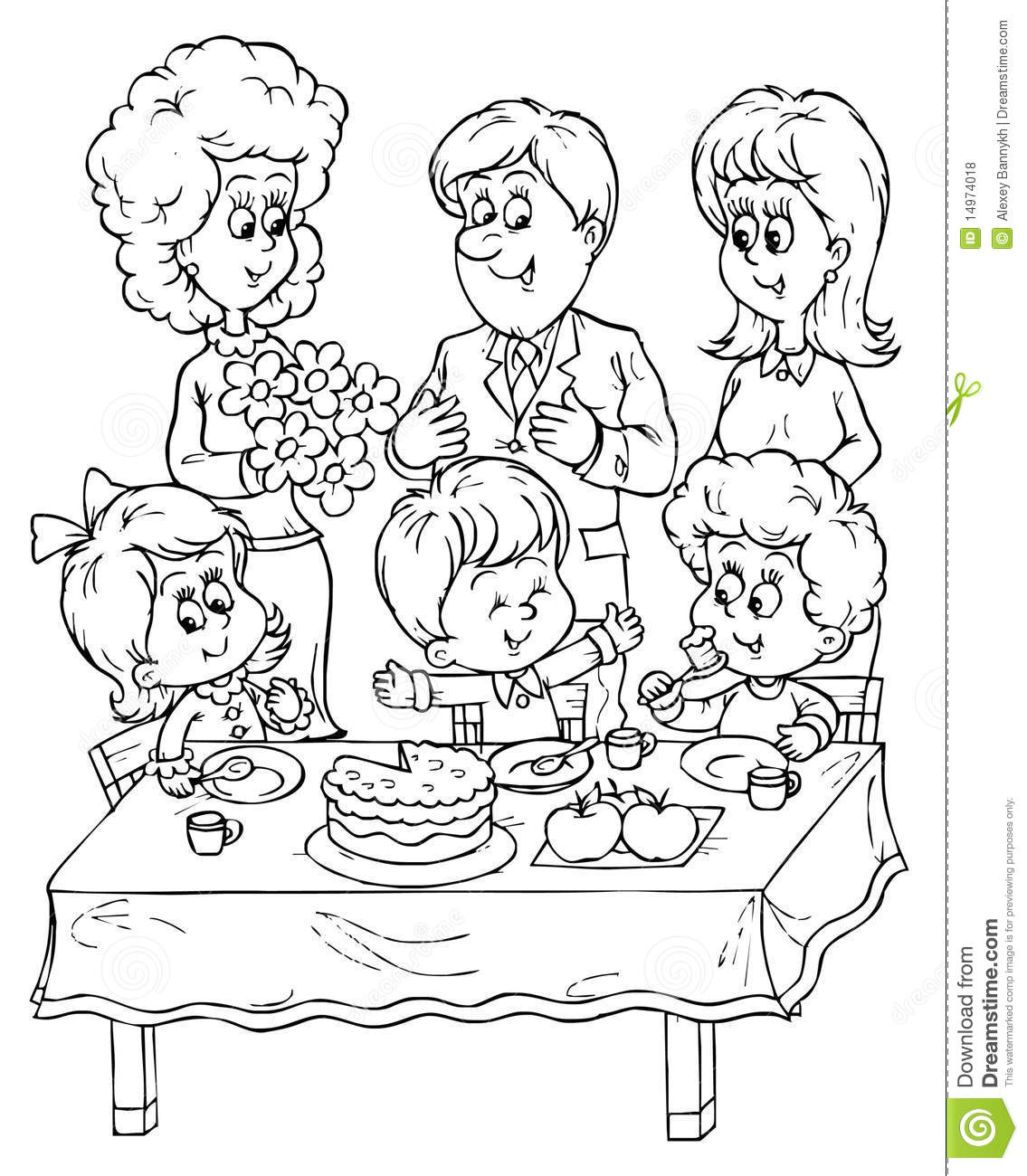 Birthday Party Stock Illustration Image Of Mood Festive