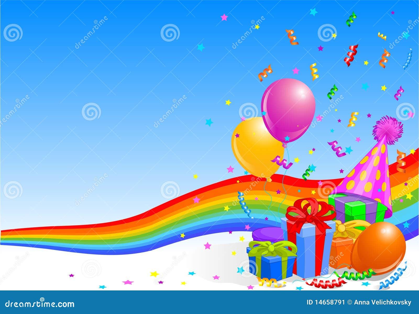 Birthday Party Background Stock Image - Image: 14658791