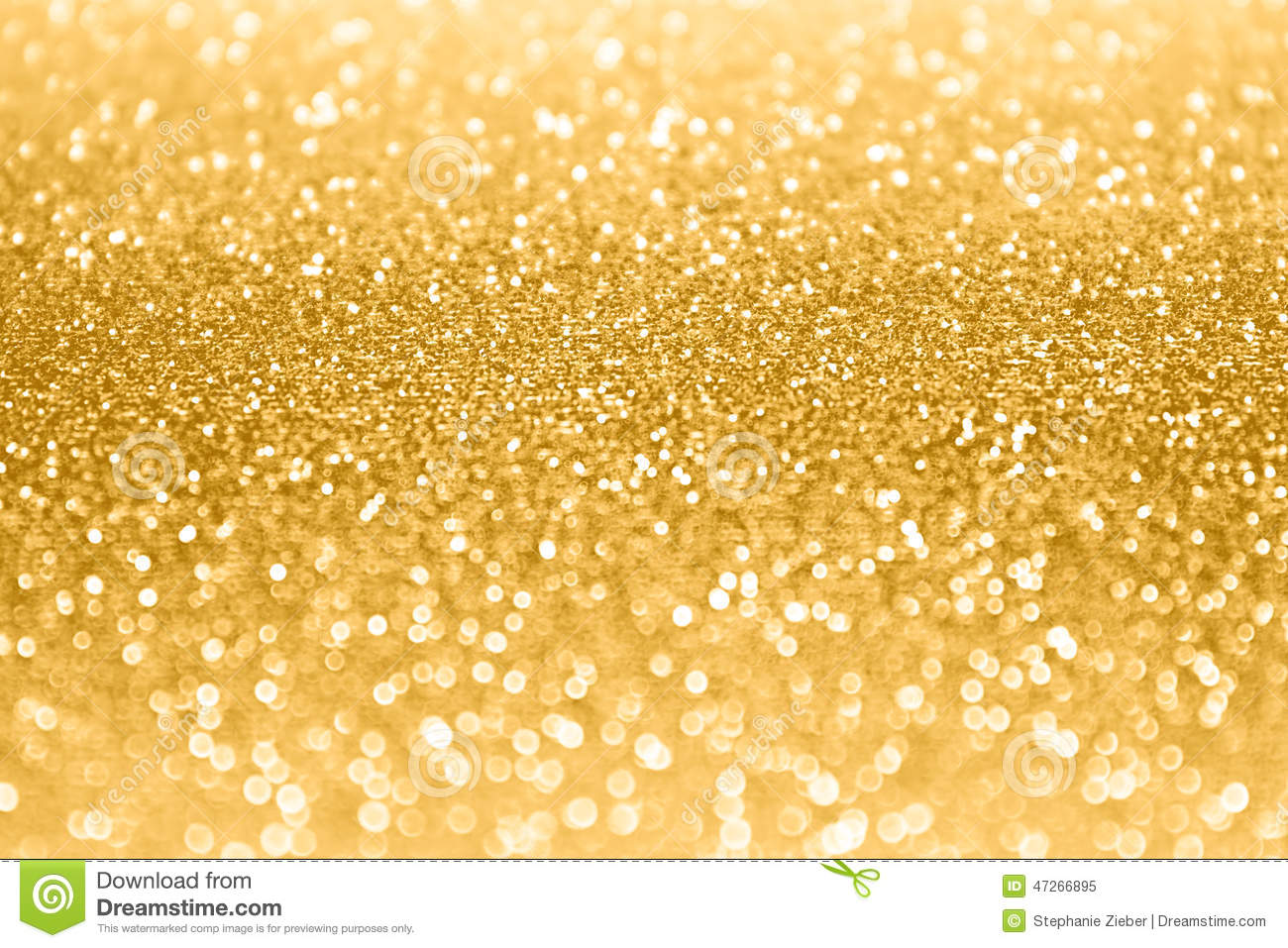 Gold Glitter Sparkle Confetti Background Stock Image