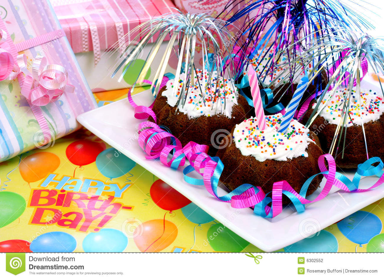 Birthday Party Brownies Stock Photography Image 6302552