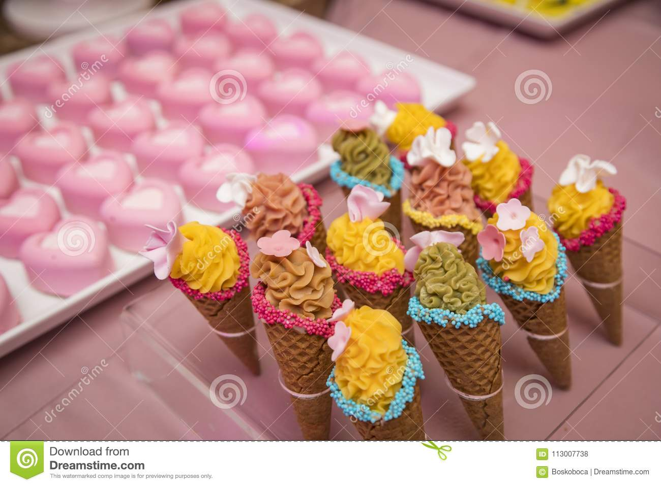 Birthday Party Candy Bar Stock Photo Image Of Marshmallow 113007738