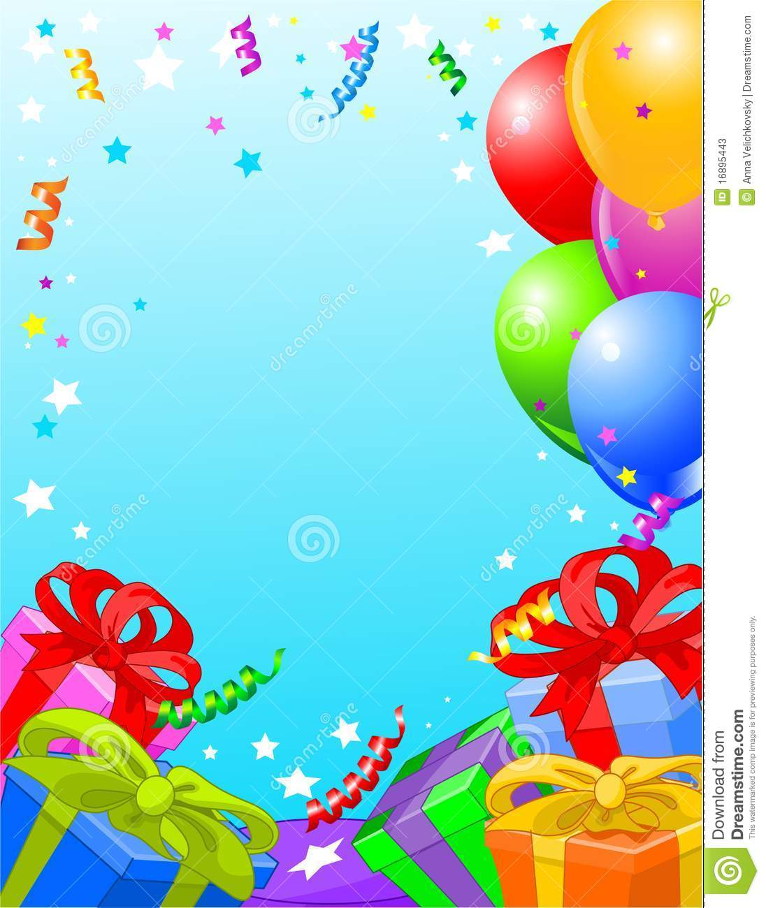 Birthday Party Card Stock Photos Image 16895443