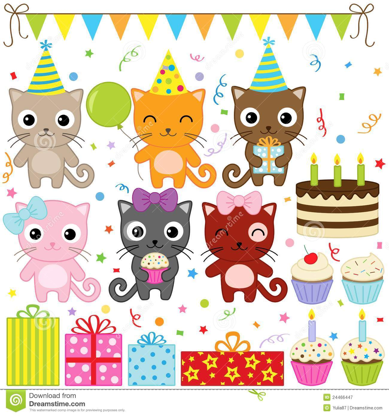 More similar stock images of birthday party cats