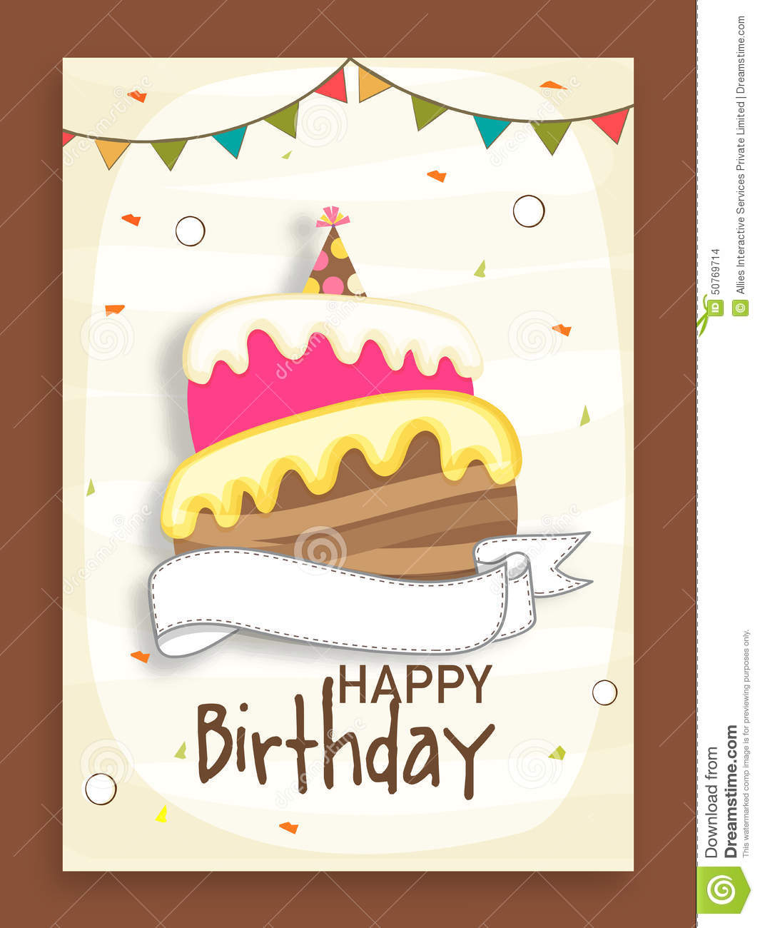Birthday party invitation card design image inspiration of cake birthday party celebration invitation card design stock illustration stopboris Image collections