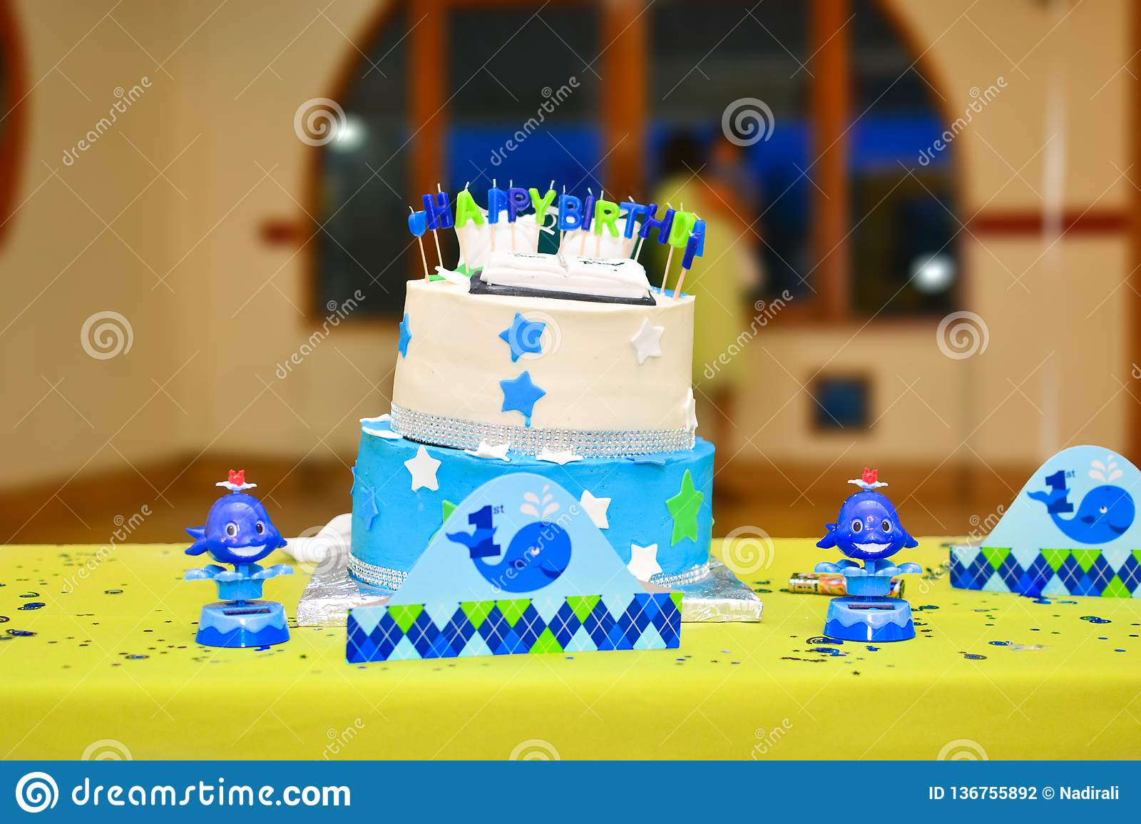 Stupendous One Year Old Birthday Cake Stock Photo Image Of Decor 136755892 Personalised Birthday Cards Cominlily Jamesorg