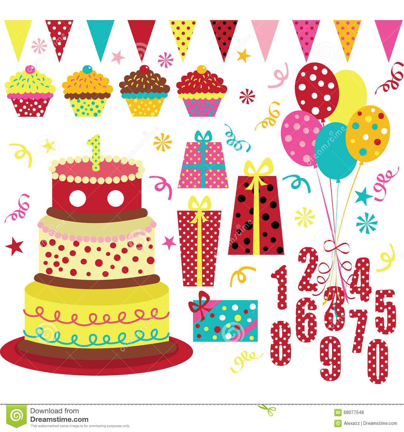 Birthday Party Element Stock Vector. Image Of Celebration