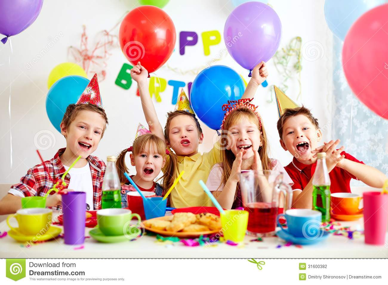 Birthday Party Stock Photo Image Of Caucasian Girl 31600382