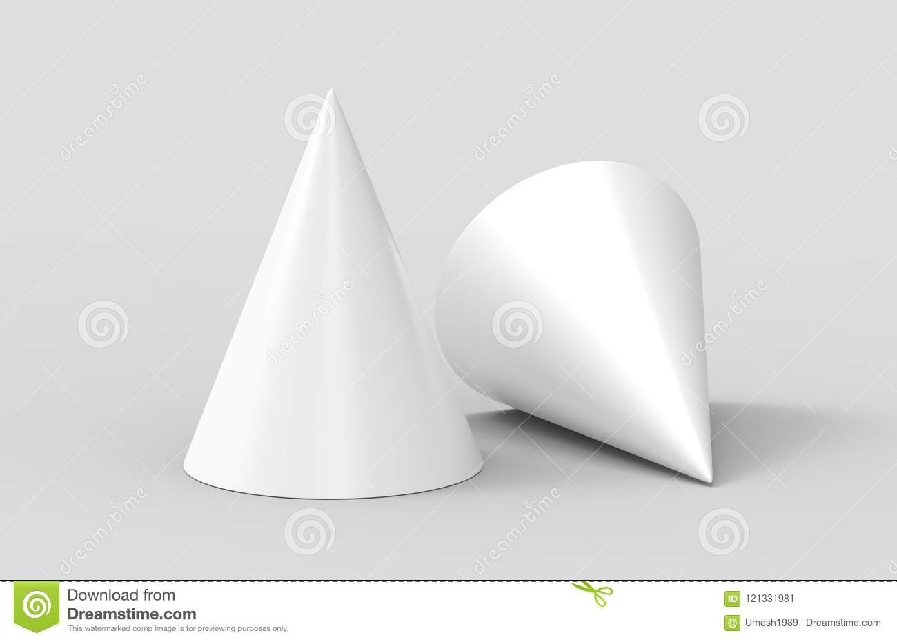 birthday party hat for mock up design presentation white blank 3d