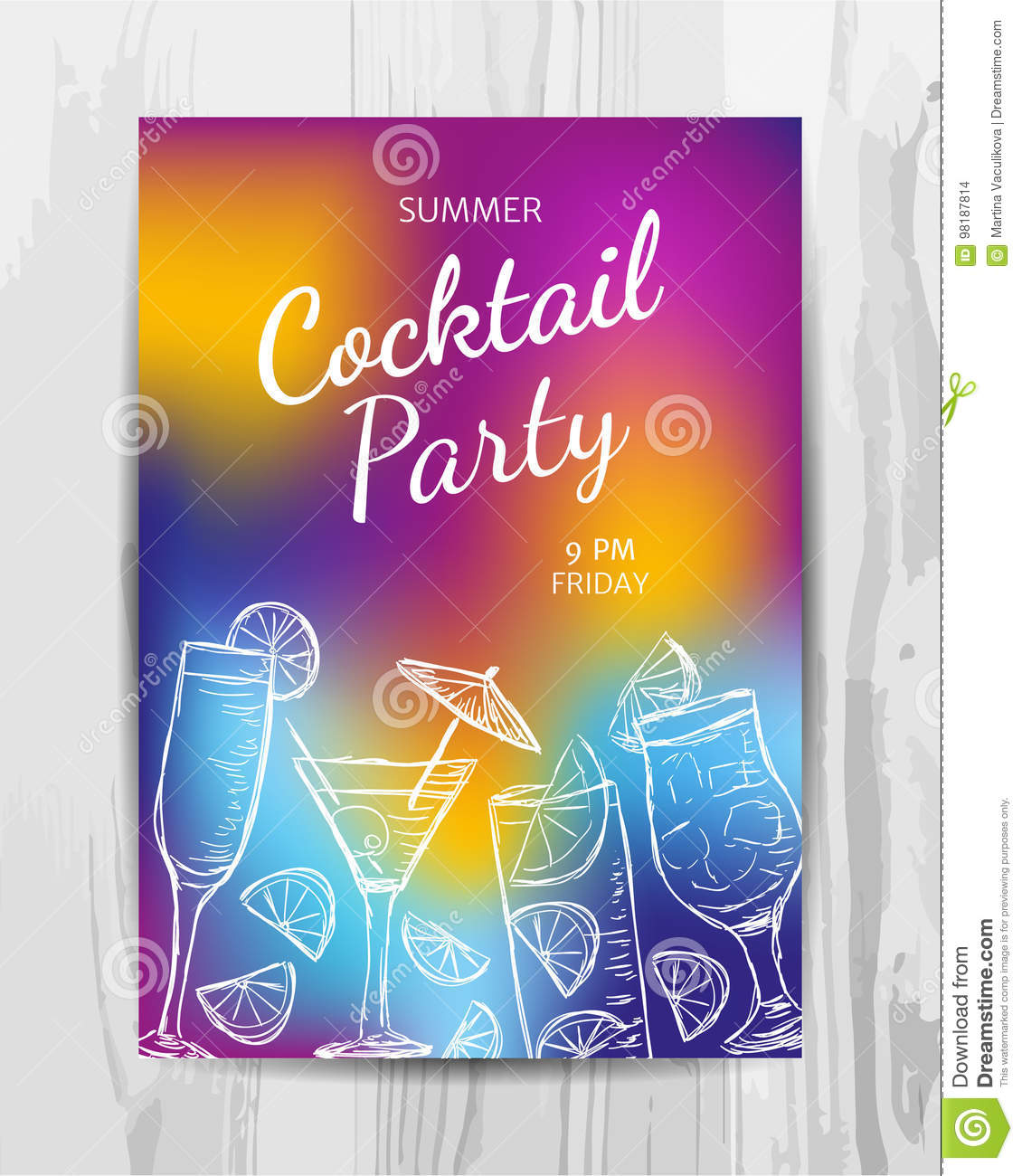 Birthday party invitation card cocktail party flyer stock vector download birthday party invitation card cocktail party flyer stock vector illustration of anniversary stopboris Gallery