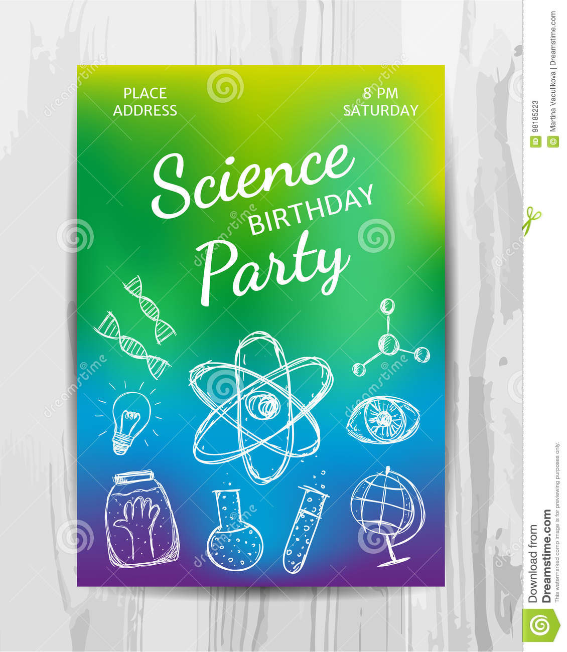 Free Science Birthday Party Invitation Templates Cogimbous - Party invitation template: free science birthday party invitation templates