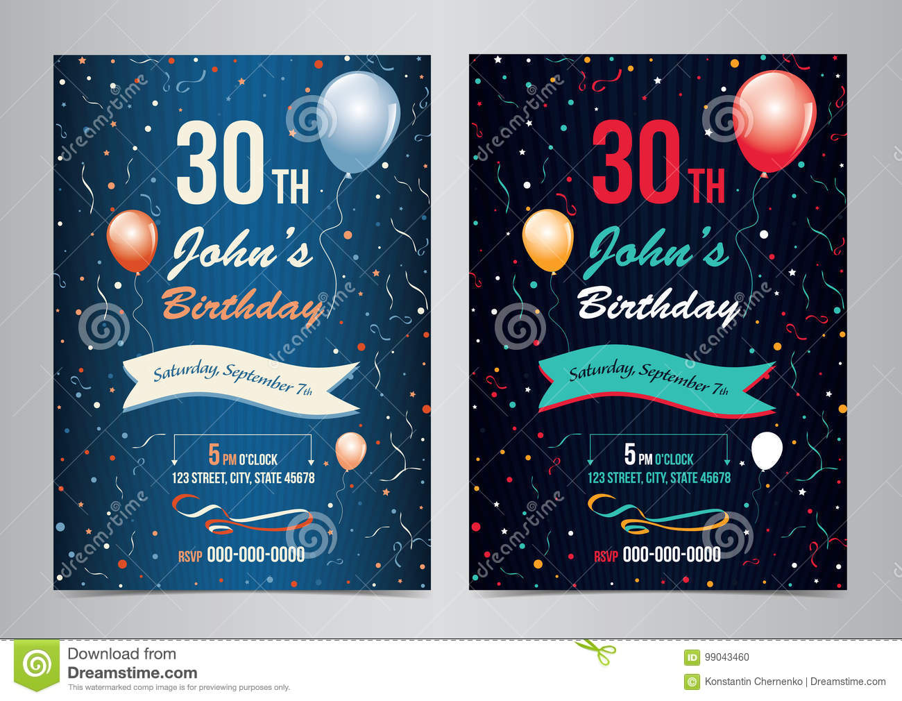 Birthday Party Invitation Layout Template
