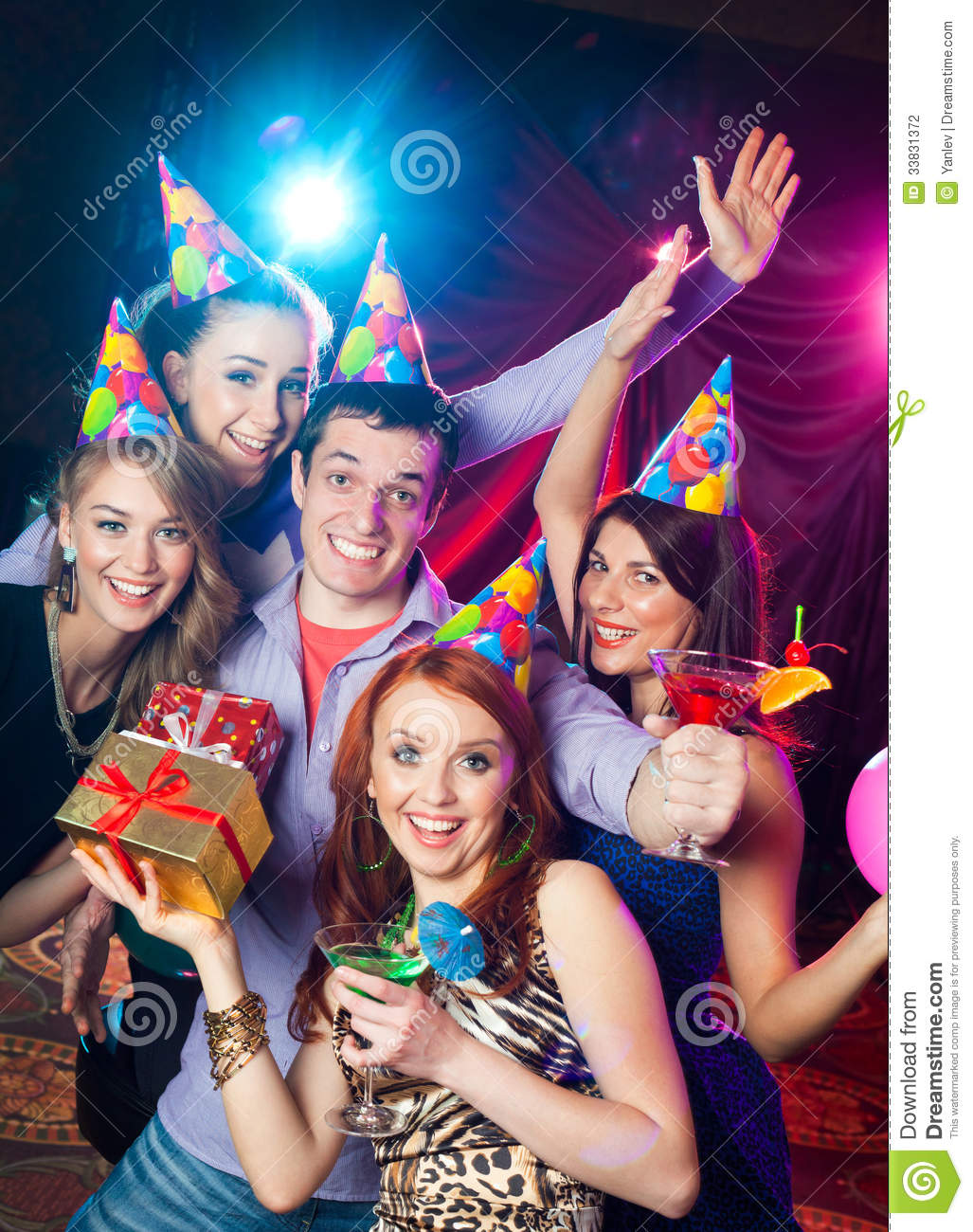 Birthday Party At Nightclub Stock Photo Image Of Club Event 33831372