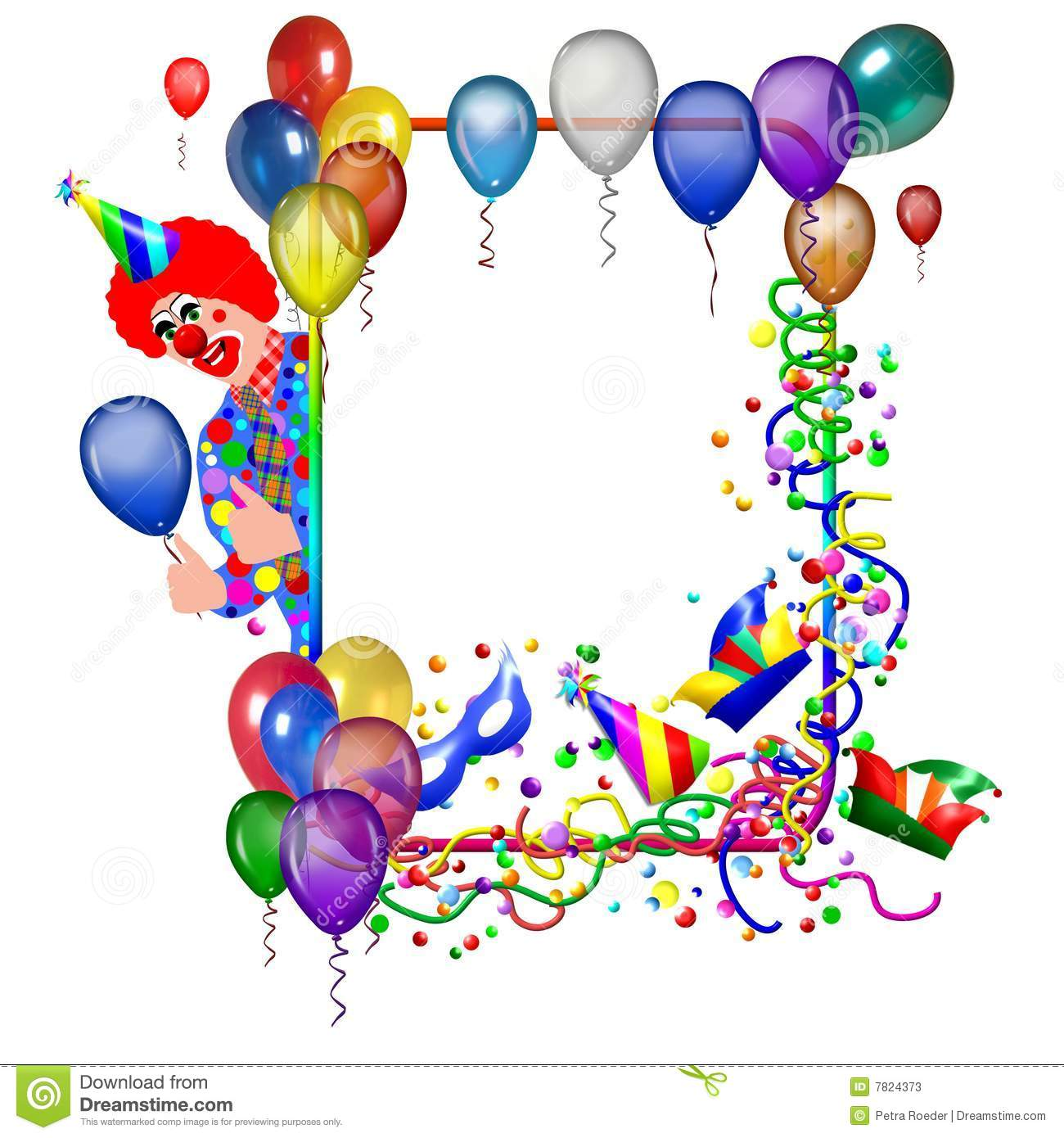 Birthday Or Party Poster Stock Photos Image 7824373