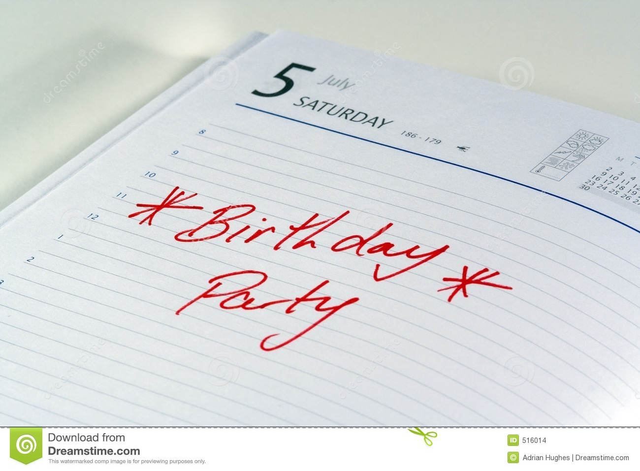 Birthday party reminder stock photo image of diary urgent 516014 birthday party reminder stopboris Gallery
