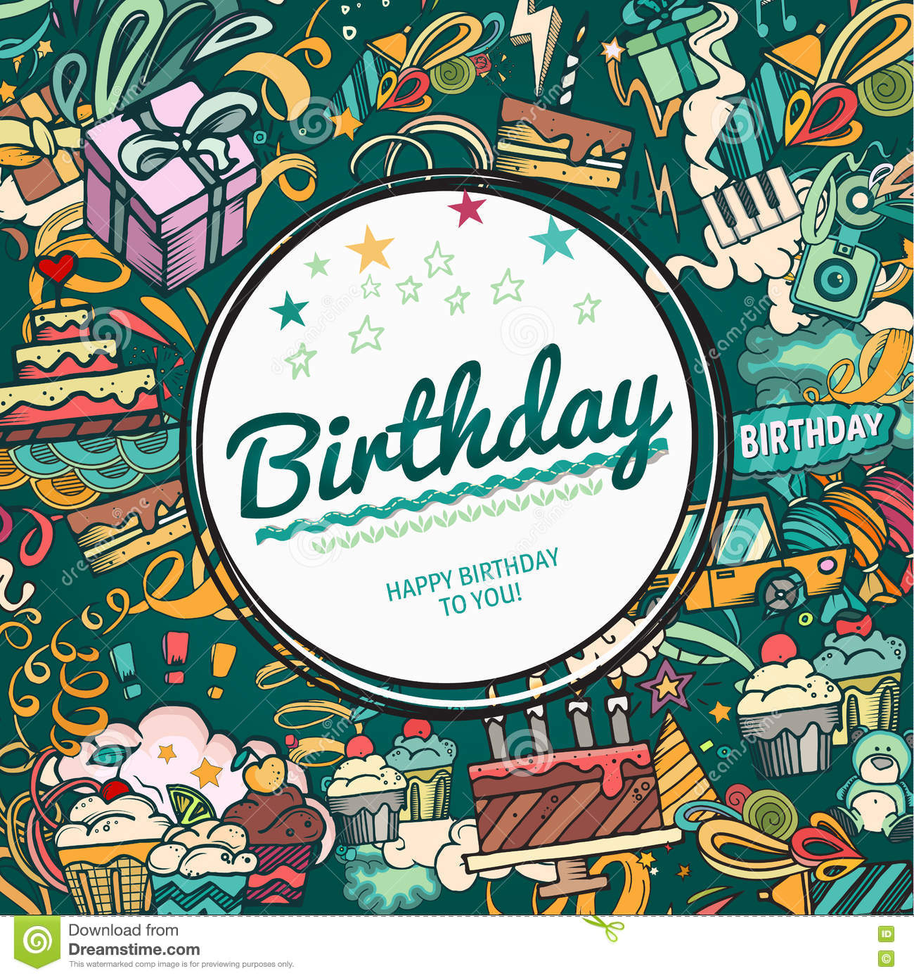 Birthday photo frame stock vector. Illustration of camera - 21 Within Birthday Card Collage Template