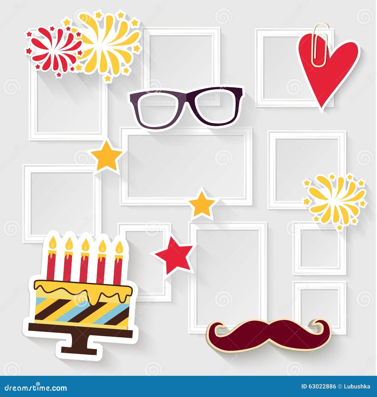 Birthday Photo Frame Stock Vector Image 63022886