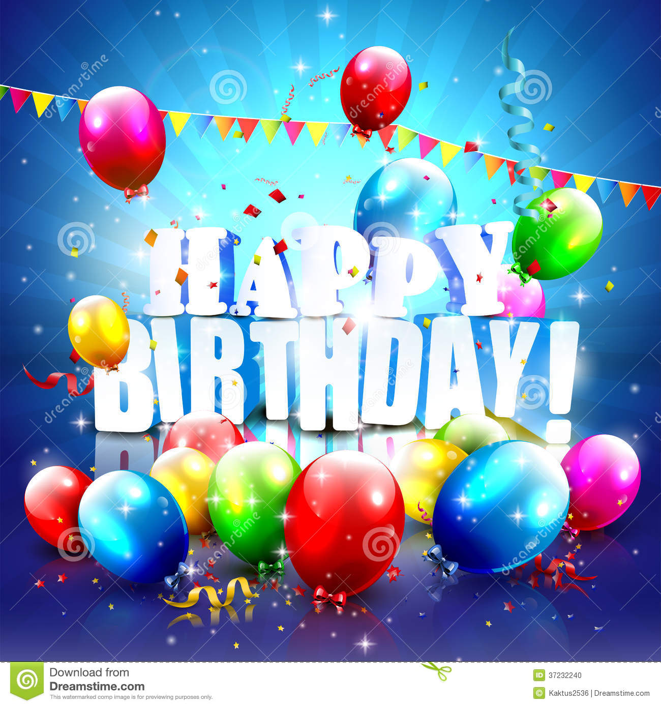 Birthday Poster Stock Photo Image 37232240