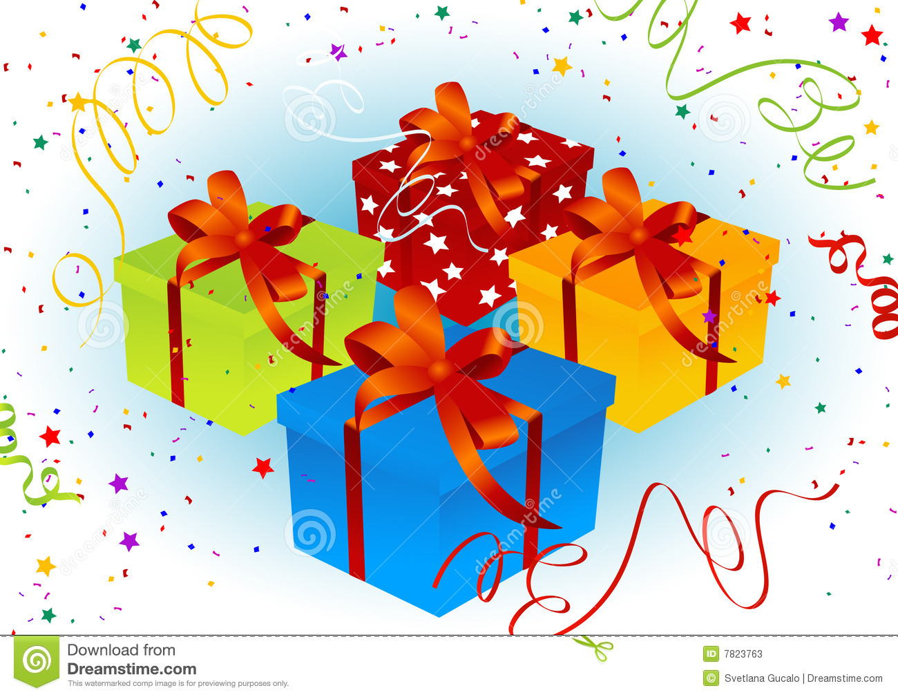 Birthday present background, vector illustration, AI file included.