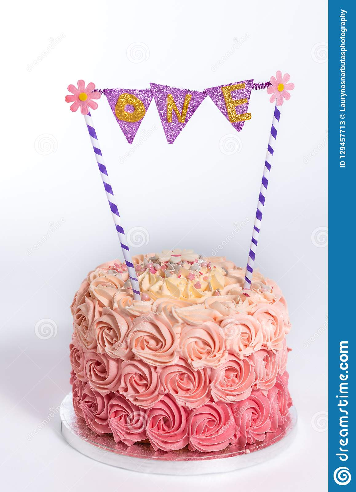 Outstanding Birthday Smash Cake In White Background Stock Image Image Of Birthday Cards Printable Riciscafe Filternl