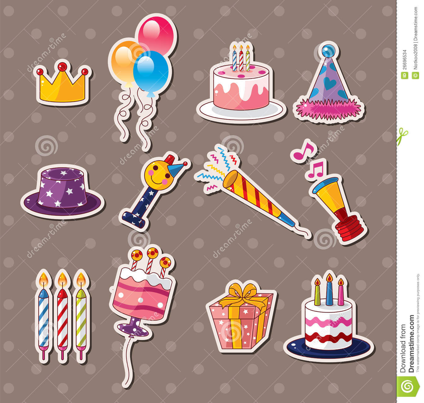 Birthday stickers