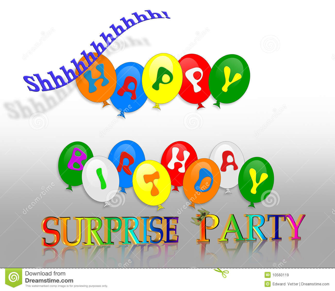 Birthday Surprise Party Invitation Royalty Free Stock Images  Image