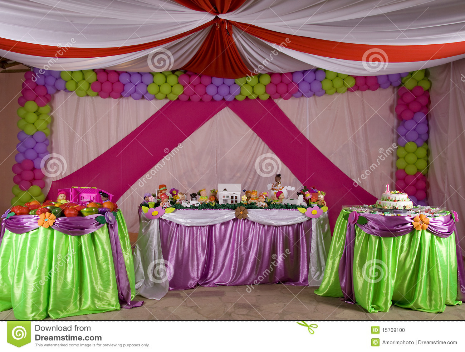 Birthday Tent Stock Photo Image Of Pink Childhood Food
