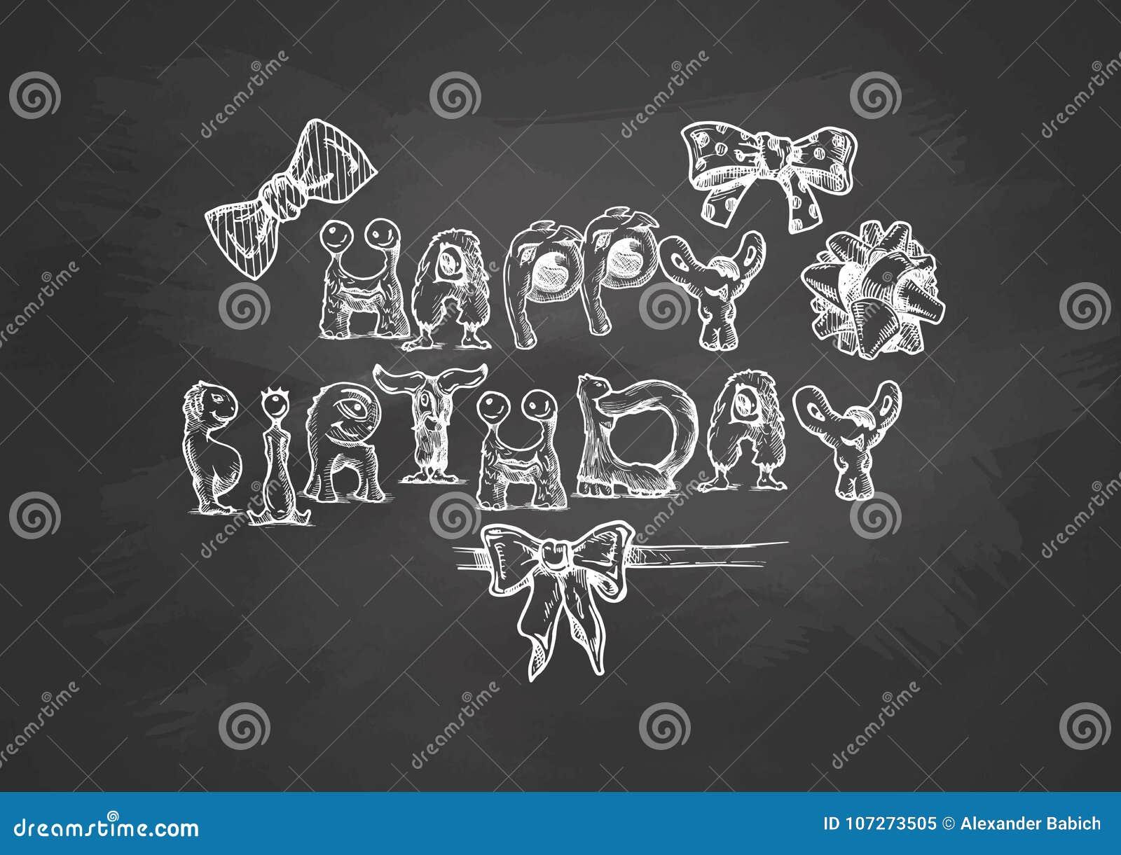 birthday typography template stock vector illustration of