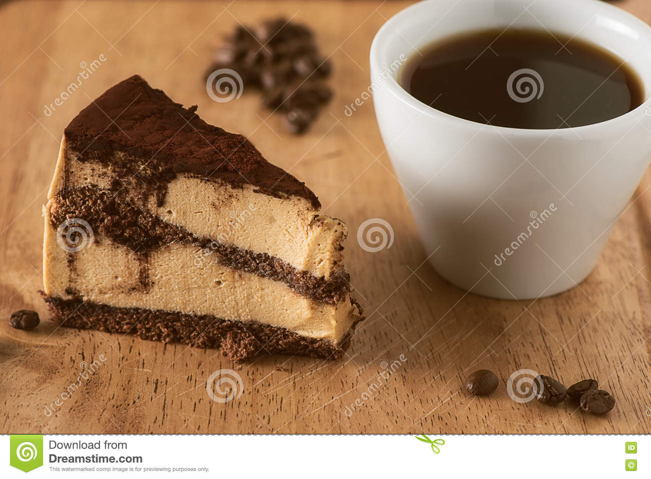 Birthday Or Wedding Cake With Coffee Stock Photo Image Of Cuisine