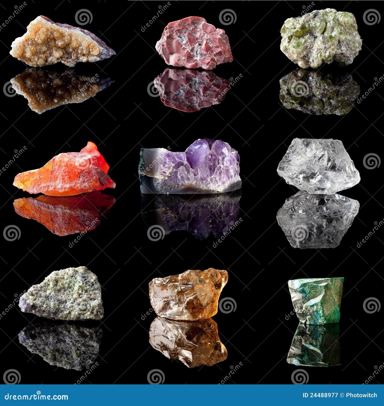 Semi Precious Gemstone Raw Stone : Birthstones and semi precious gemstones royalty free stock