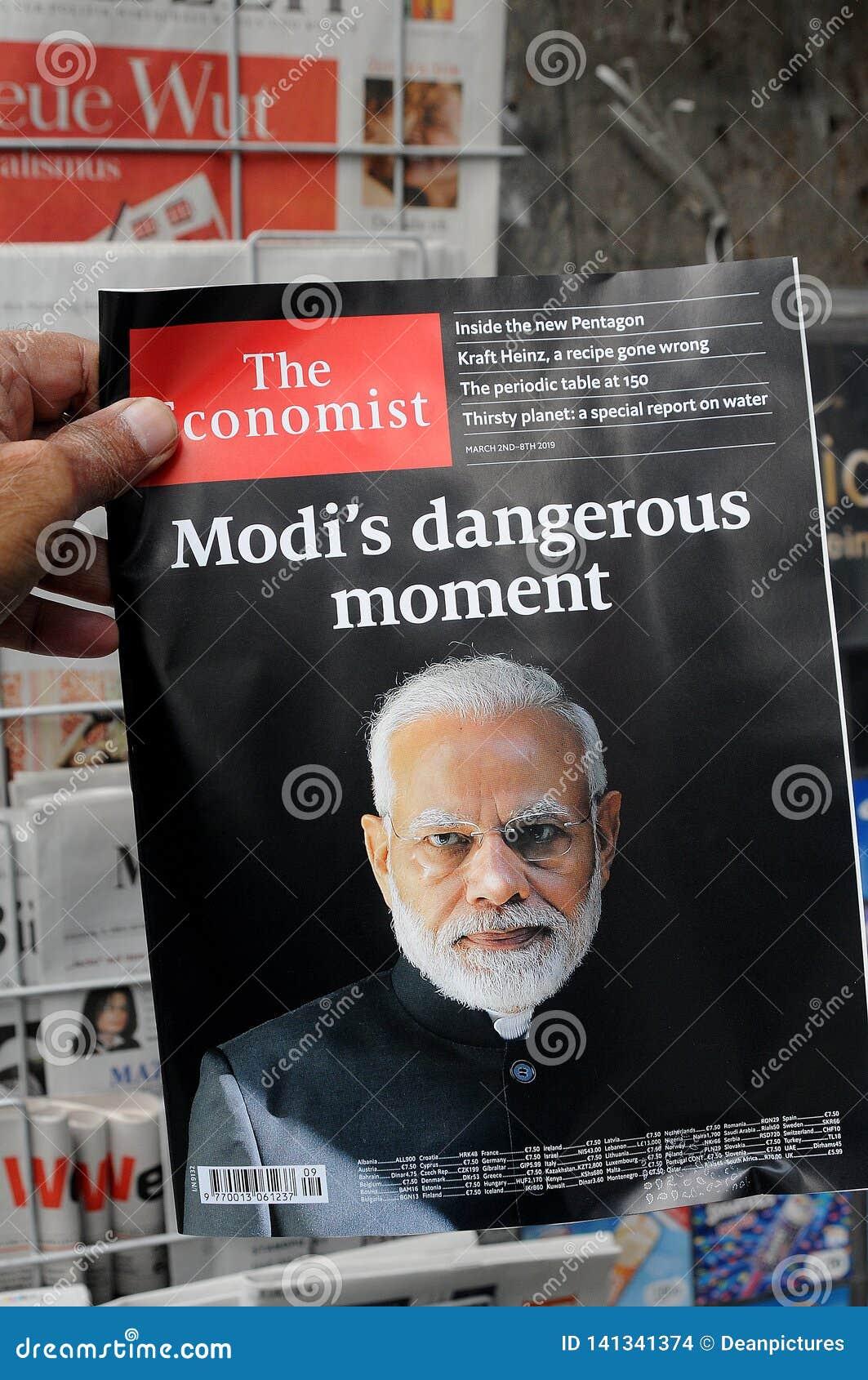 Birtish The Economist Indian PM Modi`s Dangerous Moment Editorial