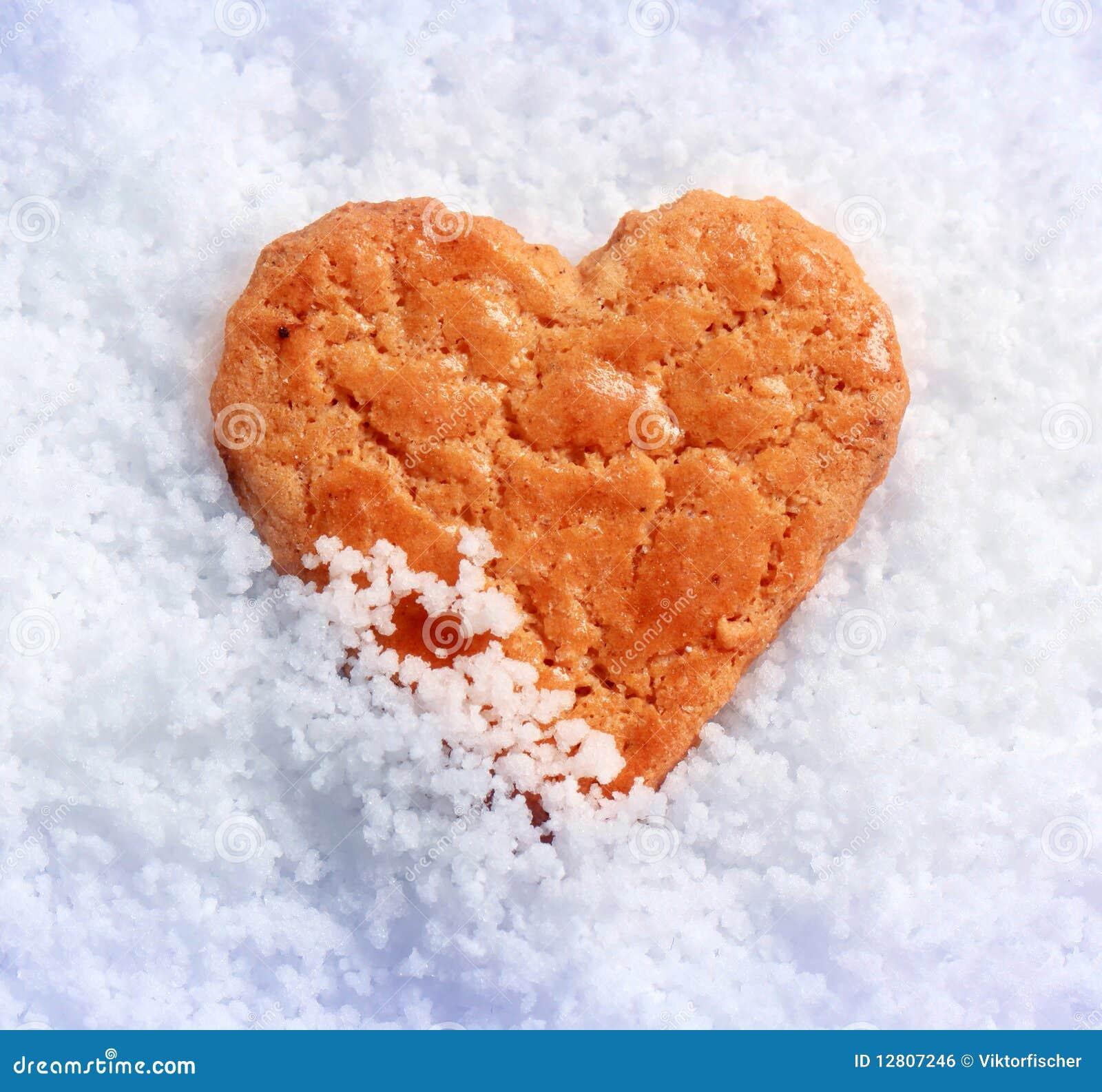 Biscoito dado forma coração