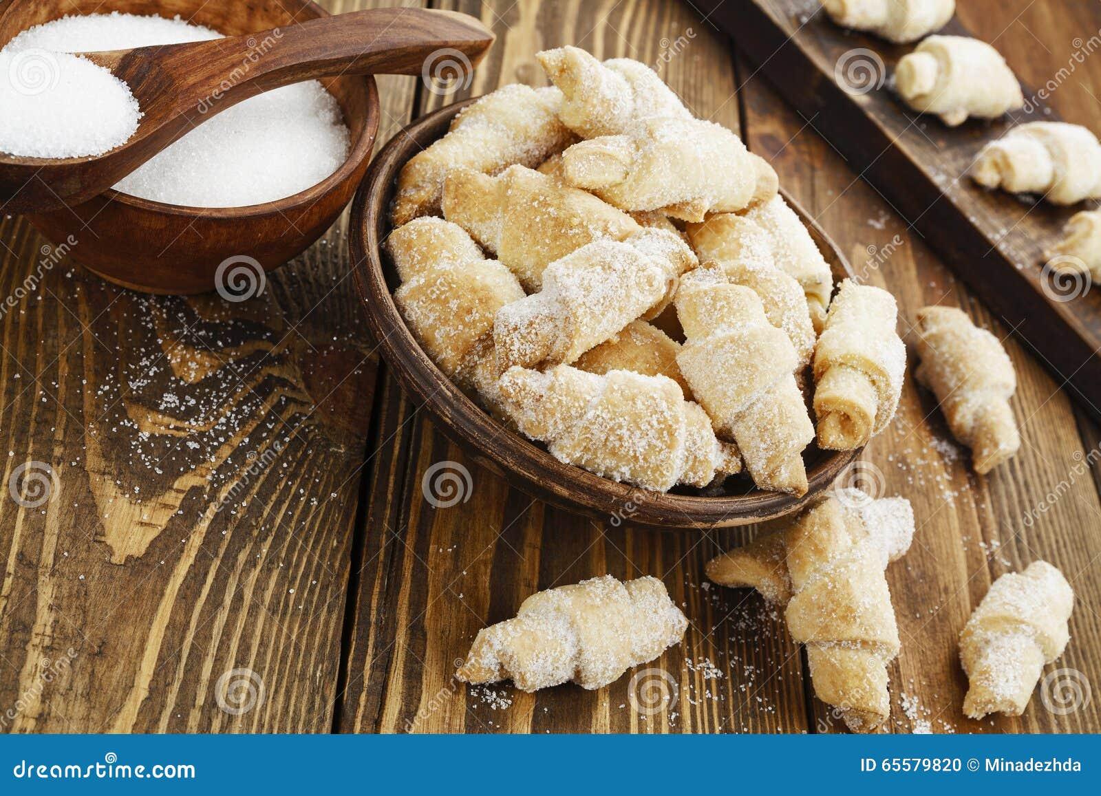 Biscoitos com açúcar