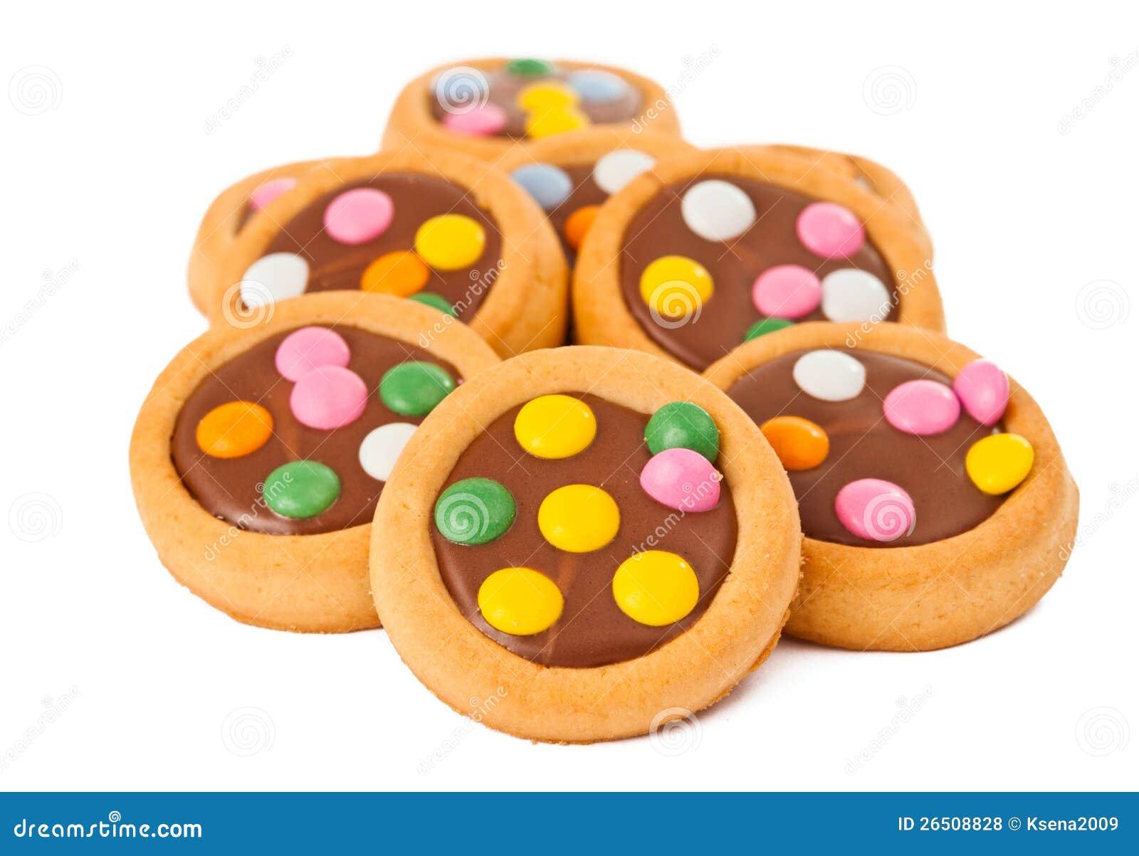 Biscoitos com chocolate de leite
