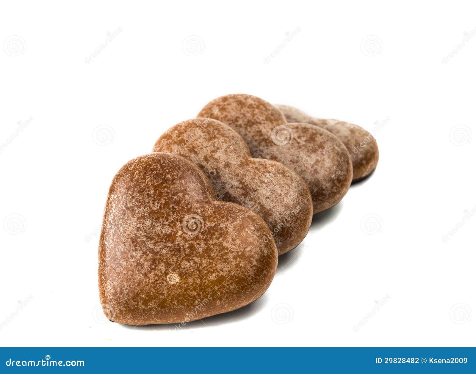Biscoitos do coração isolados
