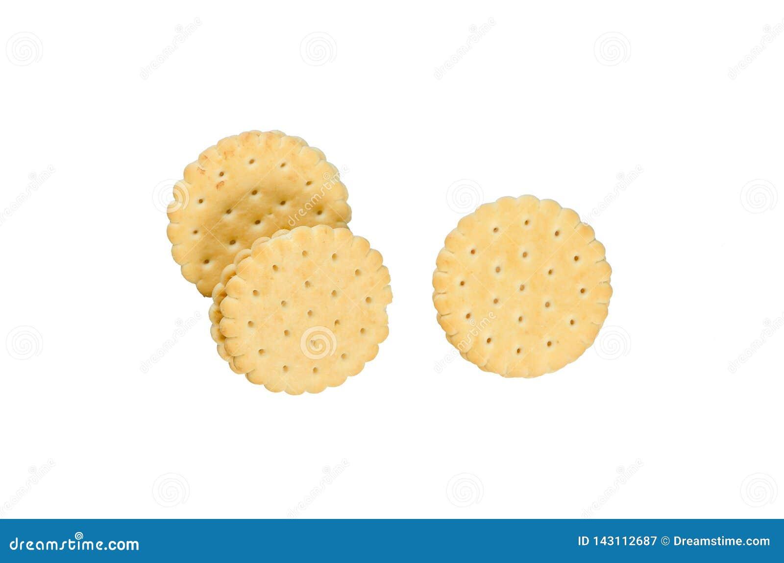 Biscoitos em um fundo branco