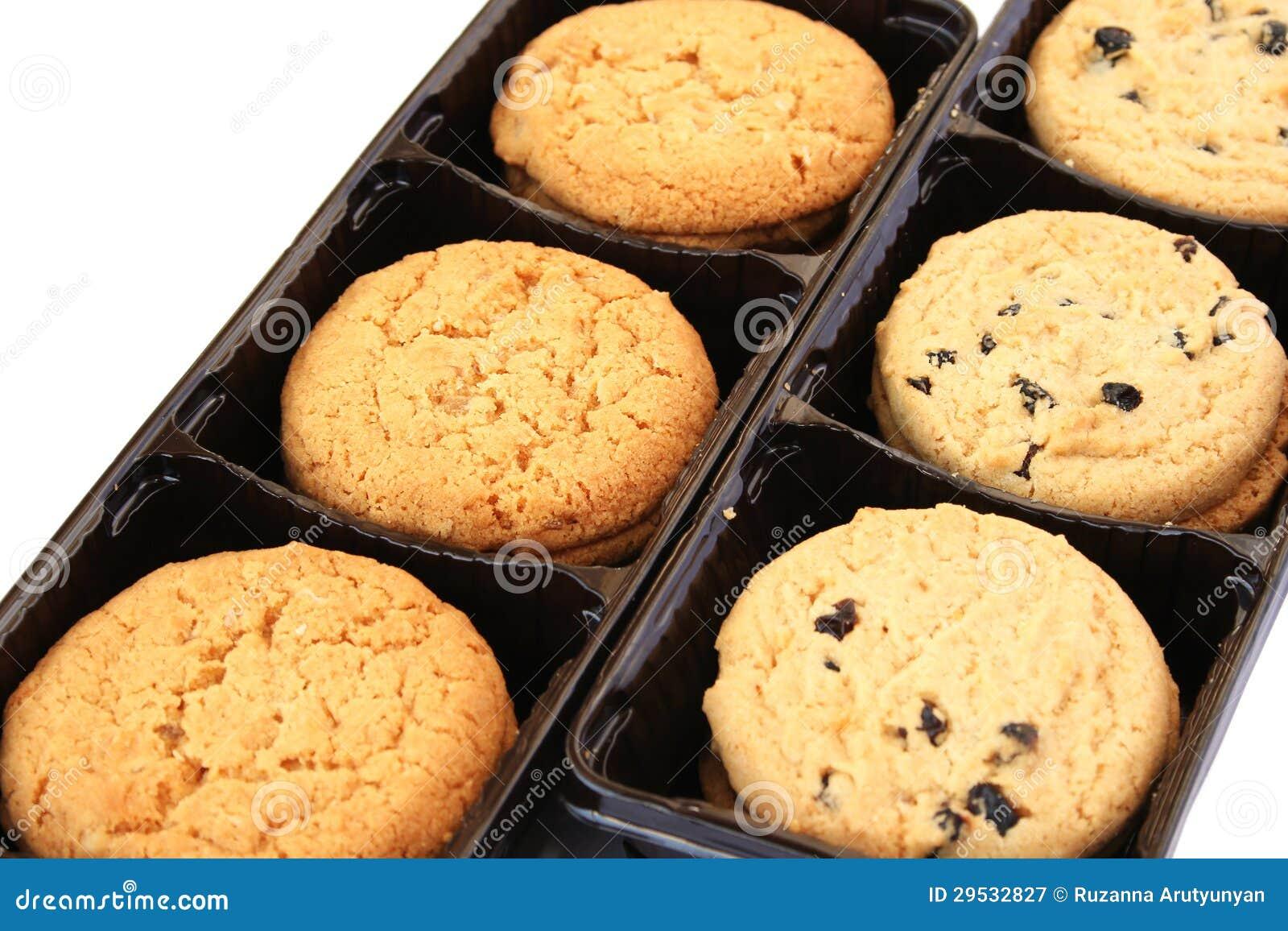Biscoitos na caixa